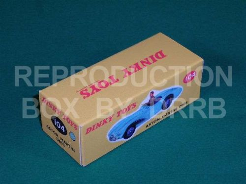 Dinky #104 Aston Martin DB3S Sports - Reproduction Box ( Blue )